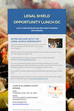 Legal Shield  Opportunity Lunch DC