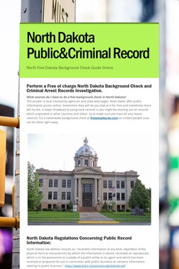 North Dakota Public&Criminal Record
