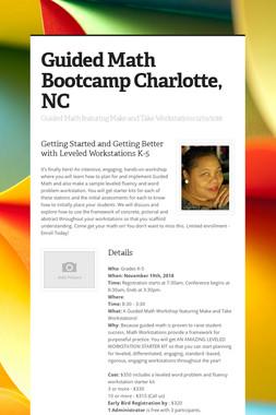 Guided Math Bootcamp Charlotte, NC