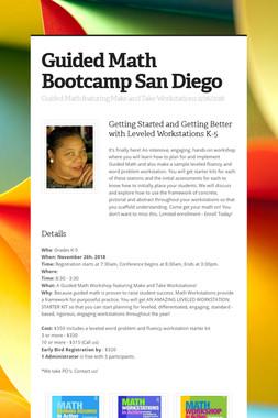 Guided Math Bootcamp San Diego