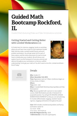 Guided Math Bootcamp Rockford, IL