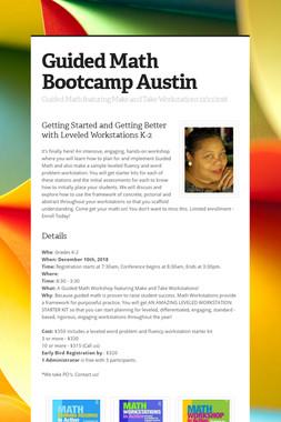 Guided Math Bootcamp Austin