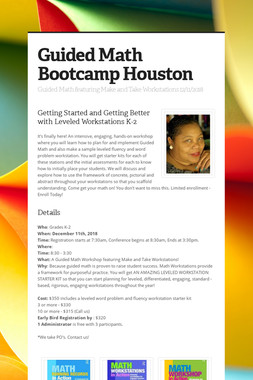 Guided Math Bootcamp Houston