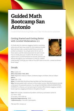 Guided Math Bootcamp San Antonio