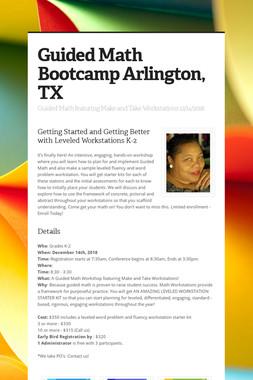 Guided Math Bootcamp Arlington, TX