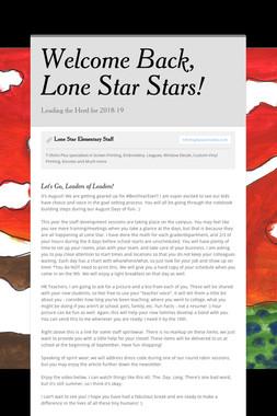 Welcome Back, Lone Star Stars!