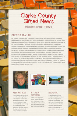 Clarke County Gifted News