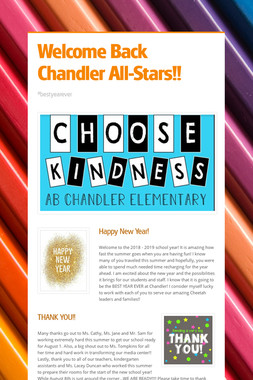 Welcome Back Chandler All-Stars!!
