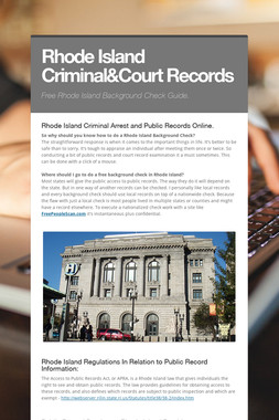 Rhode Island Criminal&Court Records