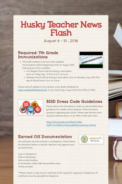 Husky Teacher News Flash