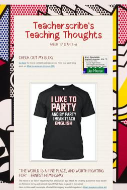 Teacherscribe's Teaching Thoughts