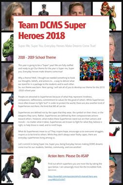 Team DCMS Super Heroes 2018