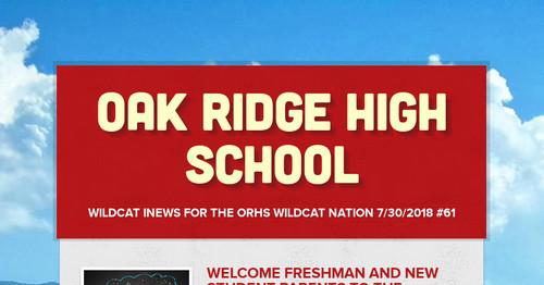 Oak Ridge High School   Smore Newsletters for Education