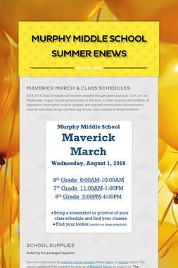 Murphy Middle School Summer ENews