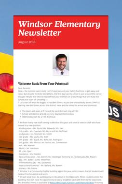 Windsor Elementary Newsletter