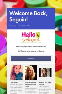 Welcome Back, Seguin!