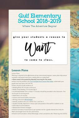 Gulf Elementary School 2018-2019