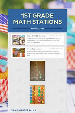 1st Grade Math Stations