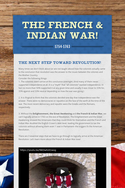 The French & Indian War!