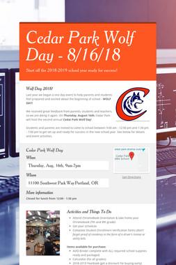 Cedar Park Wolf Day - 8/16/18