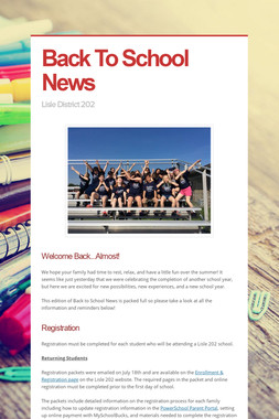 Back To School News