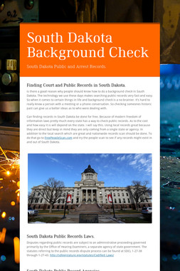 South Dakota Background Check