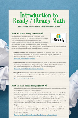 Introduction to Ready / iReady Math