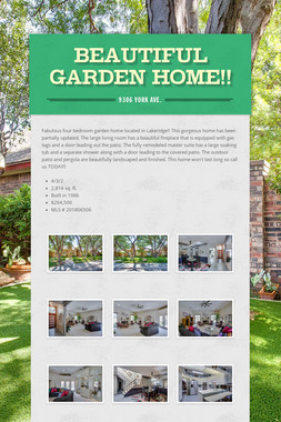 Beautiful Garden Home!!