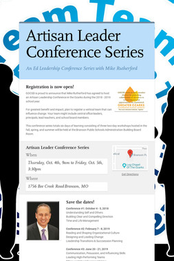 Artisan Leader Conference Series