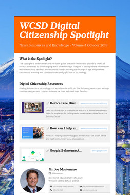 WCSD Digital Citizenship Spotlight