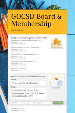 GOCSD Board & Membership