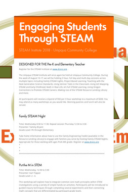 Engaging Students Through STEAM