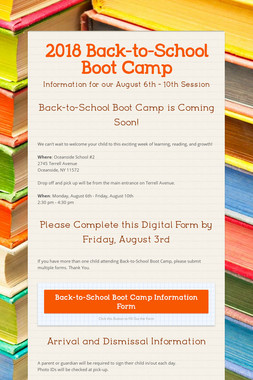 2018 Back-to-School Boot Camp