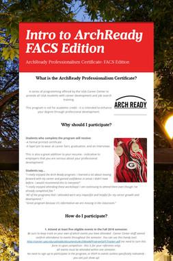 Intro to ArchReady FACS Edition