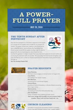 A Power-full Prayer