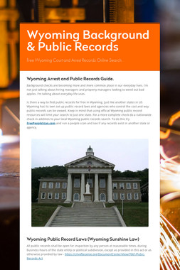 Wyoming Background & Public Records