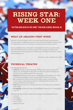 RISING STAR: Week One