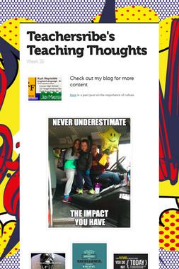 Teachersribe's Teaching Thoughts