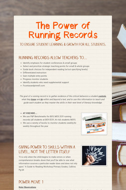 The Power of Running Records