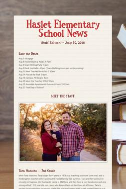 Haslet Elementary School News