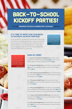 Back-to-School Kickoff Parties!