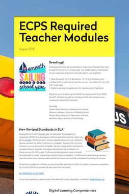ECPS Required Teacher Modules