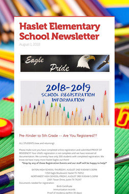 Haslet Elementary School Newsletter