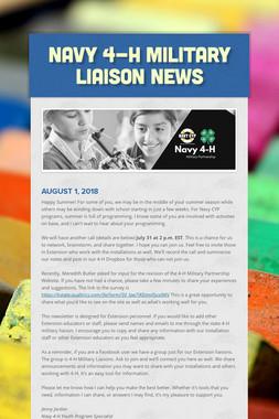 Navy 4-H Military Liaison News