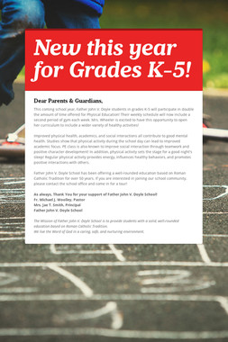 New this year for Grades K-5!