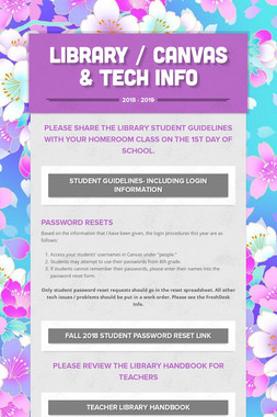 Library / Canvas & Tech Info