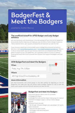 BadgerFest & Meet the Badgers