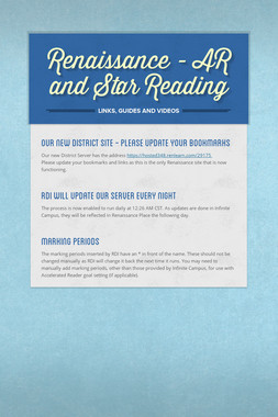 Renaissance - AR and Star Reading