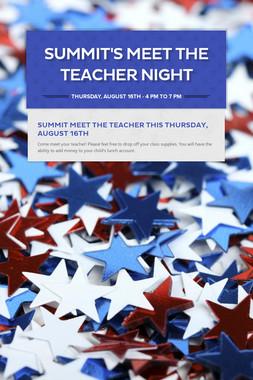 Summit's Meet the Teacher Night