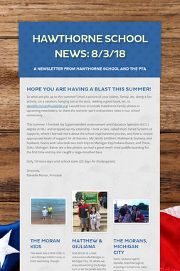 Hawthorne School News: 8/3/18